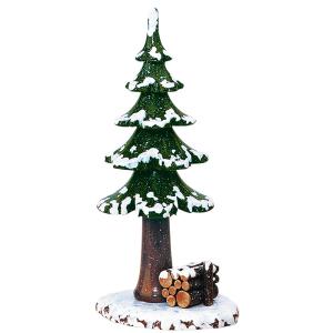 Winterbaum-mit-Holzstapel