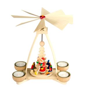 Weihnachtsmann-Natur-4-Teelichter