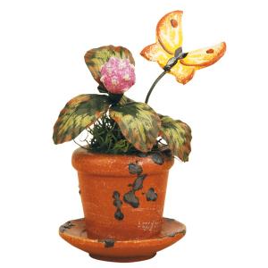 Blumentopf-Kleeblume